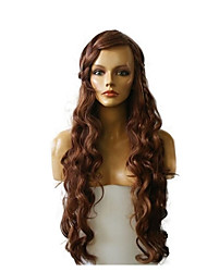 cheap -Synthetic Wig Deep Wave Natural Hairline Highlighted/Balayage Hair Brown Women's Capless Celebrity Wig Natural Wigs Long Synthetic Hair