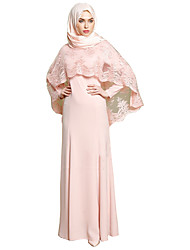 cheap -Fashion Arabian Dress Abaya Female Festival / Holiday Halloween Costumes Pink Gray Solid
