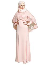 Недорогие -Мода Арабское платье Абайя Женский Фестиваль / праздник Костюмы на Хэллоуин Розовый Серый Однотонный