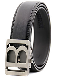 cheap -Men's Work Casual Alloy Waist Belt - Solid Colored Stylish