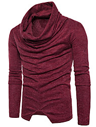 cheap -Men's Long Sleeves Pullover - Solid Color Turtleneck
