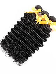 cheap -Brazilian Hair Deep Wave Human Hair Natural Color Hair Weaves Human Hair Weaves Human Hair Extensions Women's