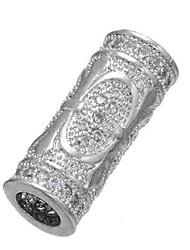 Недорогие -Ювелирные изделия DIY 1 штук Бусины Искусственный бриллиант Сплав Золотой Серебряный Цилиндр Шарик 0.5 cm DIY Ожерелье Браслеты
