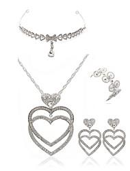 cheap -Women's Jewelry Set - Imitation Diamond Heart European, Fashion Include forehead jewelry / Bridal Jewelry Sets White For Wedding / Party