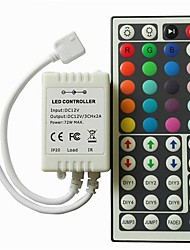 cheap -1pc LED RGB Controller DC12V 44 Key IR Remote Controller For 3528 5050 RGB LED Strip Lights