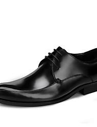 Недорогие -Для мужчин обувь Натуральная кожа Кожа Весна Осень Формальная обувь Свадебная обувь Назначение Черный Вино