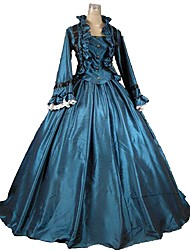 cheap -Renaissance Victorian Costume Adults' Outfits Blue Vintage Cosplay Satin/ Tulle Long Sleeves