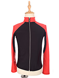 baratos -Jaqueta de Lã Fleece para Patinação Mulheres Para Meninas Patinação no Gelo Blusas Vermelho Elastano Com Stretch Espetáculo Praticar