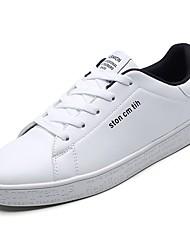 abordables -Homme Chaussures Polyuréthane Printemps / Automne Confort Basket Blanc / Noir / blanc / Blanc et vert