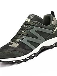 Недорогие -Для женщин Обувь Кашемир Весна Осень Удобная обувь Спортивная обувь Для прогулок На плоской подошве Круглый носок для Военно-зеленный