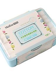 abordables -120 pcs Coton pour Maquillage Éponge Carré Visage Aucune Maquillage Quotidien