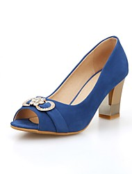 abordables -Femme Chaussures Cuir Nubuck Printemps / Eté Gladiateur Sandales Talon Bottier Bout ouvert Paillette Brillante Noir / Rouge / Bleu