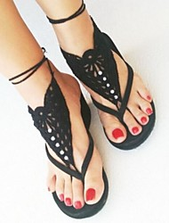 cheap -Fabric Foot Accent Women's Summer Casual White Black Orange Red