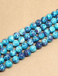 cheap -DIY Jewelry 46 pcs Beads Synthetic Gemstones Blue Round Bead 0.8 cm DIY Necklace Bracelet