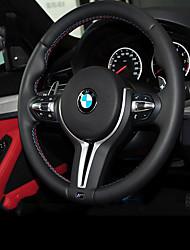 Недорогие -Чехлы на руль Настоящая кожа Черный For BMW X3 / X5 / 3 серии Все года