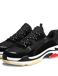 baratos -Masculino sapatos Tule Primavera Verão Conforto Tênis para Casual Branco Preto Vermelho Verde