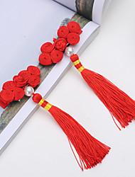 Недорогие -девушка кнопки цветок головной убор китайские романтические кисточкой пряжки шпильки детей cheongsam аксессуары для волос 2шт