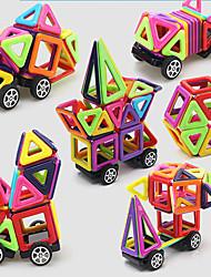 Недорогие -Магнитный конструктор / Конструкторы 64pcs Мода / Автомобиль трансформируемый Подарок