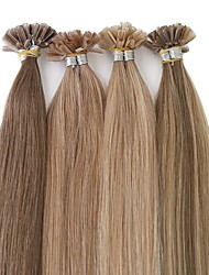 cheap -Fusion /U Tip Human Hair Extensions Brazilian Hair Remy Human Hair Straight Women's Adults' 1pack Christmas Wedding Special Occasion