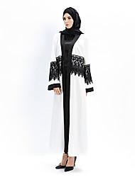 cheap -Fashion Abaya Arabian Dress Women's Festival / Holiday Halloween Costumes White Lace