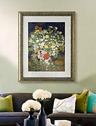 baratos -Pintura de Óleo Arte de Parede,PVC Material com frame For Decoração para casa Arte Emoldurada Interior