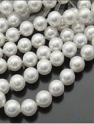cheap -DIY Jewelry 46 pcs Beads Imitation Pearl White Round Bead 0.8 cm DIY Necklace Bracelet
