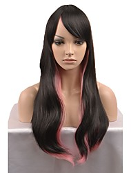 cheap -Synthetic Wig Natural Wave Black Red Capless Natural Wigs Long Synthetic Hair