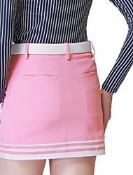baratos -Mulheres Golfe Saias Camiseta com Fecho Secagem Rápida A Prova de Vento Vestível Respirabilidade Golfe