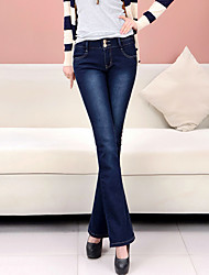 cheap -Women's Chinos Jeans Pants - Solid High Rise