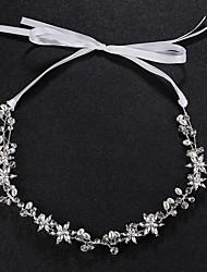baratos -Pérola / Cristal / Liga Headbands com Cristais 1pç Casamento / Roupa Diária Capacete