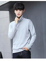 economico -Standard Pullover Da uomo-Casual Tinta unita A collo alto Maniche lunghe Cashmere Inverno Spesso strenchy