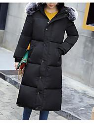billige -Dame I-byen-tøj Dynejakke - Ensfarvet