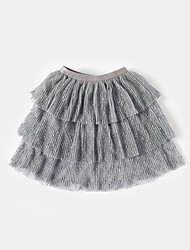 cheap -Girls' Solid Skirt, Cotton Bamboo Fiber Spandex Spring Cute Active White Black Gray