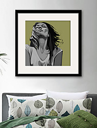 cheap -People Fantasy Illustration Wall Art,PVC Material With Frame For Home Decoration Frame Art Living Room Bedroom Kitchen Dining Room Kids