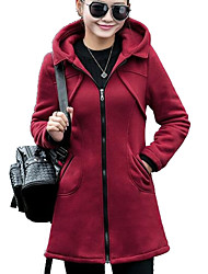 cheap -Women's Daily Hoodie Solid Hooded Micro-elastic Cotton Modal Long Sleeve Fall