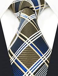 Недорогие -мужской партийный рабочий районный галстук - цветной чехол для проверки жаккарда
