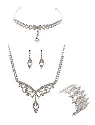 economico -Per donna I monili nuziali Gioielli per fronte Strass Diamanti d'imitazione Lega Di tendenza Europeo Matrimonio Feste Gioielli per corpo
