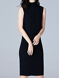 Недорогие -Жен. Оболочка Платье - Однотонный Заниженная Хомут