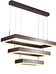 cheap -Northern Europe Post Modern LED Pendant Light 105W Rectangle Metal Living Room Dining Room Bedroom