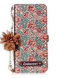 Недорогие -Кейс для Назначение SSamsung Galaxy S8 Plus S8 Бумажник для карт со стендом Флип С узором Своими руками Чехол Цветы Твердый Кожа PU для