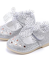 cheap -Girls' Shoes Leatherette Spring Fall Flower Girl Shoes Comfort Flats for Casual Gold Silver Pink