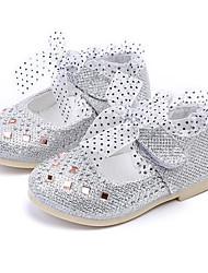 abordables -Fille Chaussures Similicuir Printemps / Automne Confort / Chaussures de Demoiselle d'Honneur Fille Ballerines pour Or / Argent / Rose