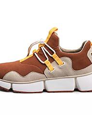 preiswerte -Schuhe PU Stoff Frühling Herbst Komfort Sportschuhe für Sportlich Normal Schwarz Grau Braun Orange & Schwarz