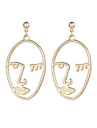 abordables -Femme Visage Plaqué argent / Plaqué or Boucles d'oreille goutte / Boucle d'oreille - Mode / Gothique Or / Argent Des boucles d'oreilles