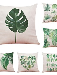 cheap -6 pcs Linen Cotton/Linen Pillow Cover, Floral Botanical Art Deco