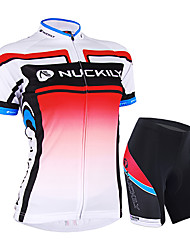 cheap -Nuckily Women's Short Sleeves Cycling Jersey with Shorts - Pink Bike Shorts Jersey Clothing Suits, Waterproof, Ultraviolet Resistant,