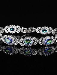 Недорогие -Жен. Браслет Синтетический алмаз Стразы Серебрянное покрытие Бижутерия Свадьба Для вечеринок Бижутерия