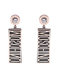 cheap -Women's Stainless Steel Drop Earrings With Gift Box - Metallic Korean Rectangle For Daily