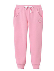 cheap -Children's Solid Pants Winter Fall Orange Blushing Pink Gray Purple