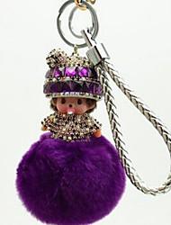 cheap -Keychain Jewelry Leather Imitation Diamond Alloy Princess Sweet Lovely Gift Daily